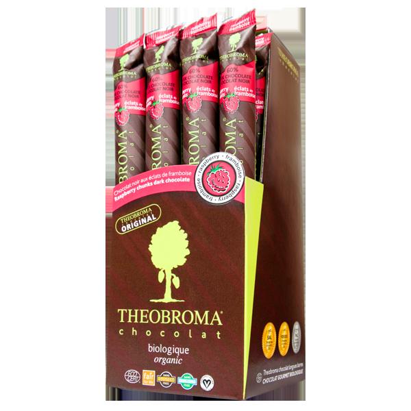 BÂTON DE CHOCOLAT NOIR 60 % CACAO ET ÉCLATS DE FRAMBOISESbaton-de-chocolat-noir-60-cacao-et-eclats-de-framboises