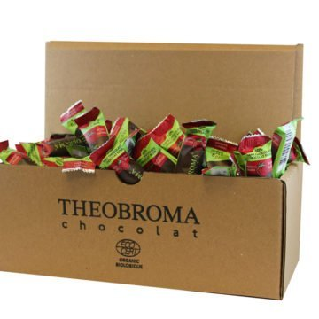 60% Dark Chocolate Mini-Sticks with Raspberry, Box of 75